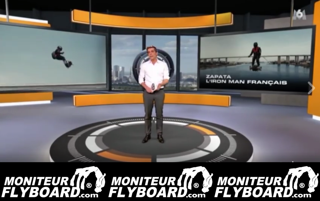 reportage 66 minutes de m6 sur l invention du flyboard air de franky zapata moniteur jet. Black Bedroom Furniture Sets. Home Design Ideas